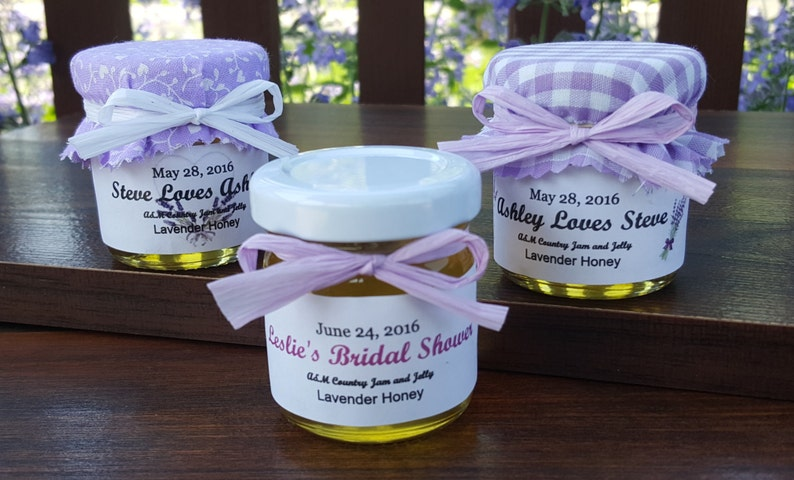 Lavender Honey Wedding Favors 50 15oz Jars W Raw Honey Etsy