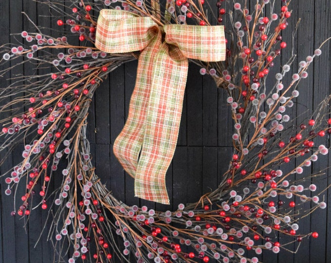 Red Berries Twig Wreath