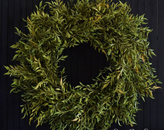 Farmhouse Greenery Year Round Front Door Wreath
