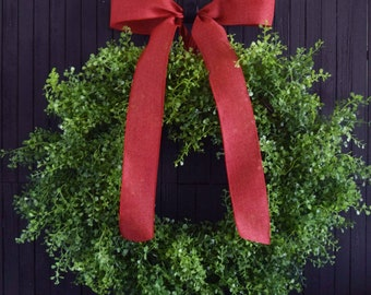 Perfect Greenery Wreath, Christmas Wreath, Year Round Front Door Wreath