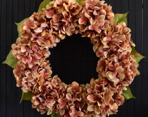 Autumn Spice Hydrangea Front Door Wreath