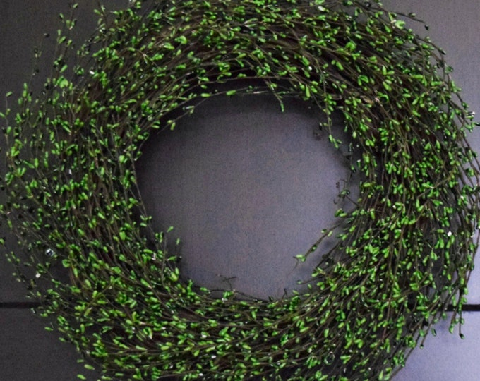 Green Pip Berry Year Round Front Door Wreath - St. Patrick's Day Wreath - Easter Wreath