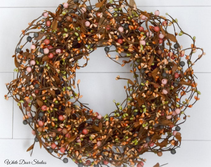 Rustic Spring and Summer Pip Berry Wreath