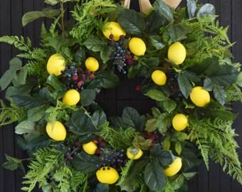 Summer Berries and Lemons Wreath