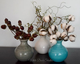 Rustic Farmhouse Bud Vase Set - Rustic Kitchen Living Room Decor - Housewarming Hostess Gift