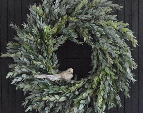 Muted Greenery Year Round Front Door Wreath