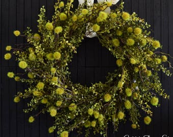 Rustic Greenery Year Round Front Door Wreath