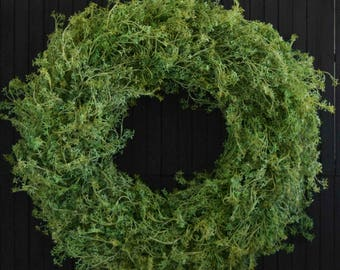 Airy Farmhouse Greenery Year Round Front Door Wreath