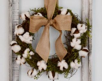 Cotton Wreath Wall Decor