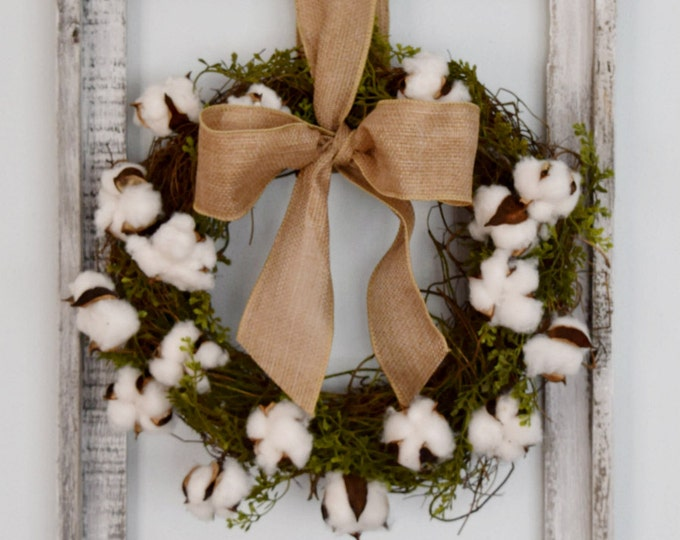 Cotton Wreath Wall Decor