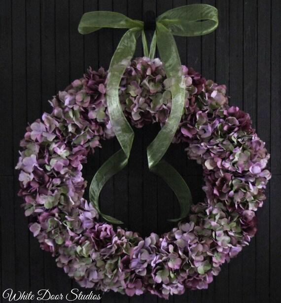 Lavender Hydrangea Wreath for Front Door or Wedding