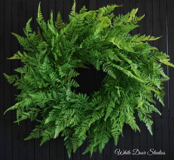 Lush Fern Greenery Year Round Front Door Wreath