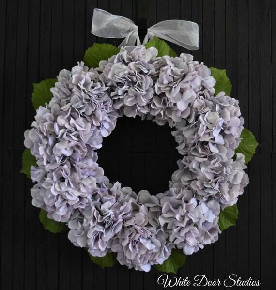 Gray Lavender Hydrangea Front Door Wreath