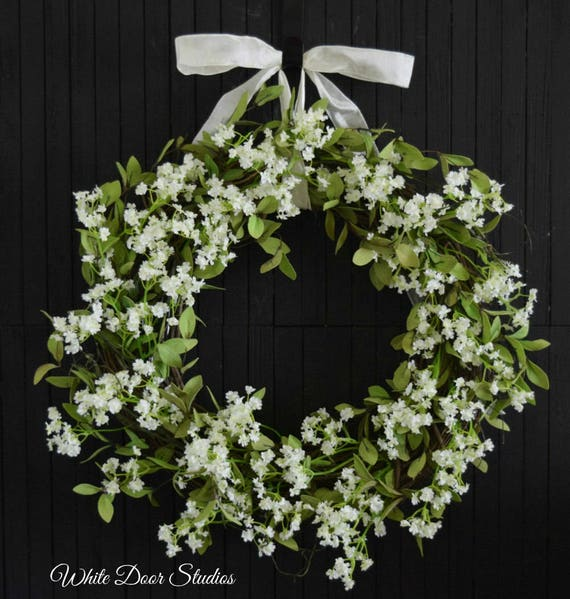 Romantic Farmhouse Greenery Wreath
