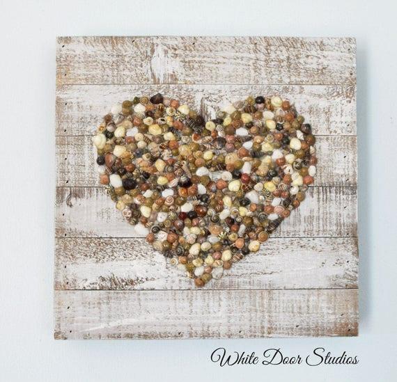 Heart of Seashells Wall Hanging