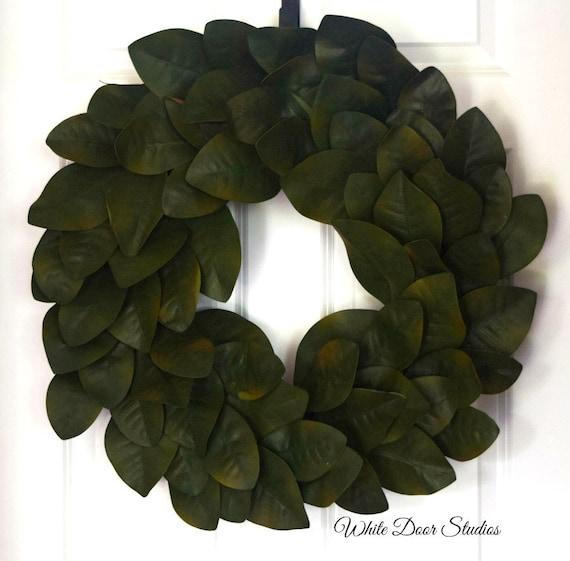 Magnolia Leaf Wreath - Rich Green