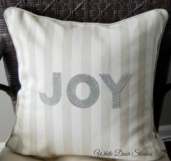 JOY Throw Pillow Cover