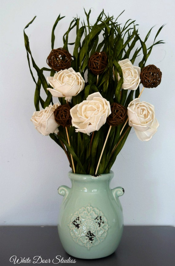 Rustic Dried Floral Arrangment - Ready to Ship