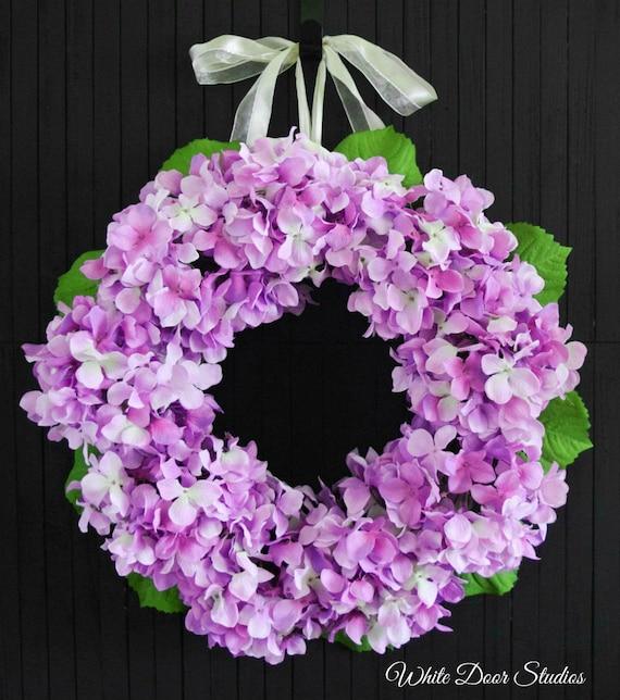 Bright Purple Hydrangea Wreath