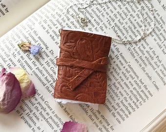 Book Necklace, Book Lover Gift, Book Pendant, Gifts for Writers, Book Jewelry, Miniature Book, Statement Necklace, Mini Book Necklace, Mom