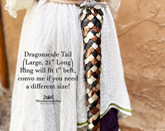 Dragon Tail Cosplay, Renfaire Costume, Dragonscale Armor, Adventurecore, Steampunk Cosplay, DnD Gamer Gifts, Dragon Costume for Women, Gifts