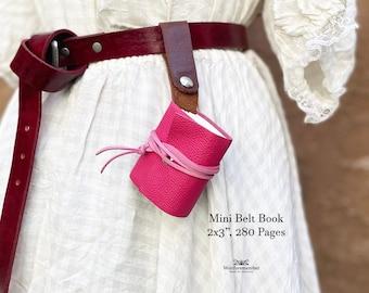 Mini Leather Belt Book, Halloween Costume, Alchemist Cosplay, Renaissance Cosplay, Steampunk Clothing Women, Journals for Women, Writing