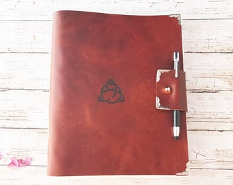 Leather Journal, Writing Journal, Gifts for Writers, Celtic Journal, Unique Journal, Mothers Day Gift, Journals for Women, Large Unlined