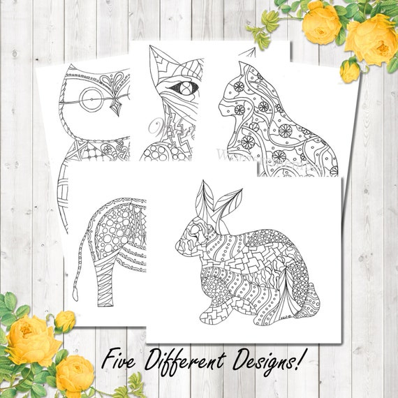 Adult Coloring Page Woodland Animals Printable Etsyrhetsy: Coloring Pages Woodland Animals At Baymontmadison.com