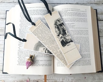 Unique Bookmarks, Gift for Reader, Cute Bookmarks, Book Jewelry, Paper Bookmarks, Bookmarks for Books, Literary Gifts, Handmade Bookmarks