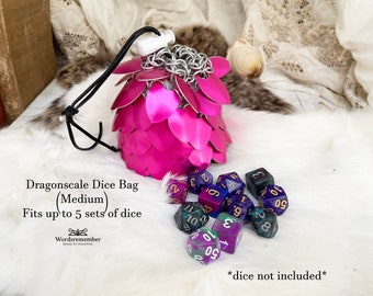 Dragonscale Dice Bag, Tabletop Gaming, DnD Dice Bag, Dragon Dice Pouch, RPG Dice Bag, Gamer Gifts, RPG Dice Tray, Gamer Girl Gift, Gifts