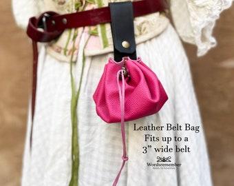Leather Bag, Belt Bag Leather, Leather Waist Bag, Womens Leather Gift, Renaissance Belt Pouch, Hip Bag Festival, Leather Pouch, Medieval