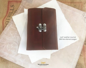 Leather Journal, Fathers Day Gift, Leather Notebook, Writing Journal, Gifts for Writers, Personalized Journal, Journals for Men, Gifts for