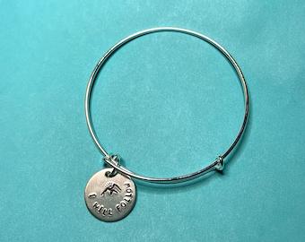 PERSONALIZED Hand-Stamped Slide Bracelet - Expandable Bangle