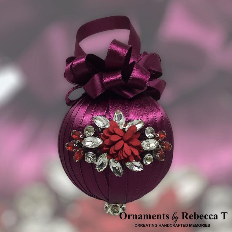 January Birthstone Christmas Ornament
