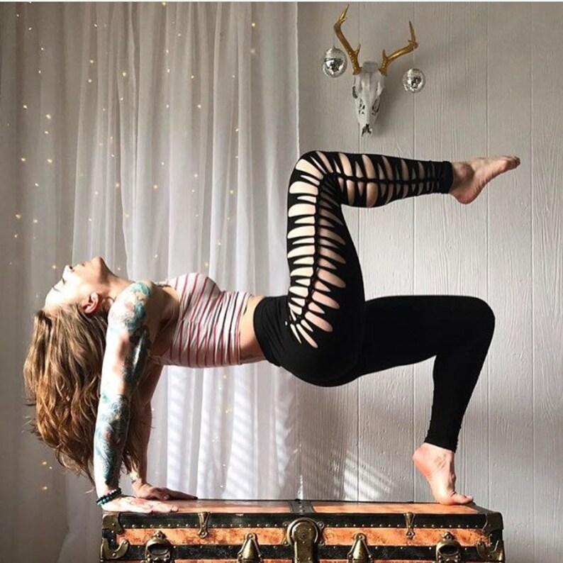 6e0974e19b49d Sexy Braided Leggings for yoga pants boho clothes dance wear | Etsy