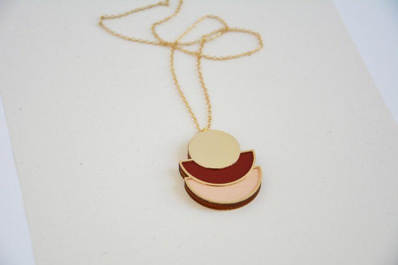 Geometric necklace Minimalist necklace Geometric pendant image 0