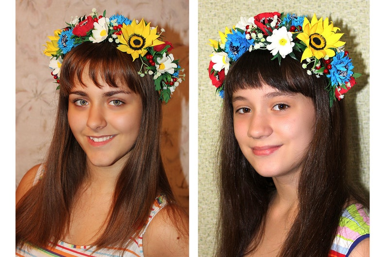 Summer Hair Wreath Headwear Flower Girl Hair Accessory Bridal Hair Accessories Wedding Headpiece Fairy Tale Wedding Photo Prop Flower Crown