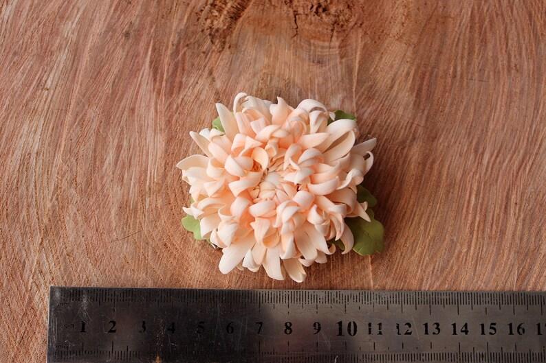Wedding Flower Hair Clip Bridesmaids Flower Headwear Beige Flower Hair Clip Bridal Hair Accessory Flower Hair Piece Wedding Beige Barrette