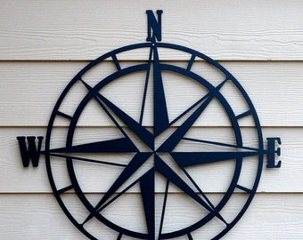 Compass wall art | Etsy