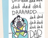 Funny Dad Card, Dad Birthday, New Dad Card, Naughty Child, From Child to Dad