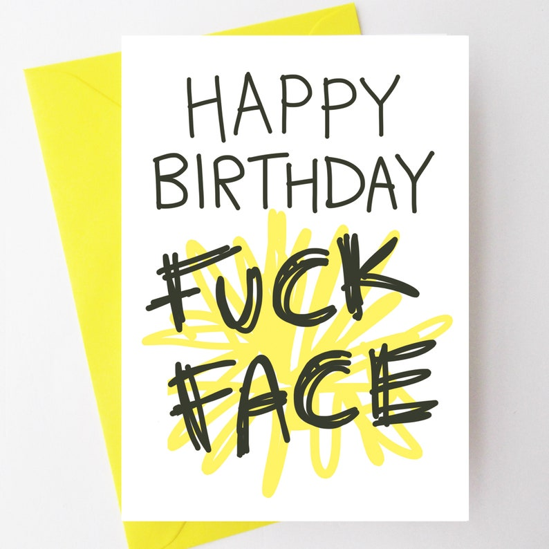 Rude Birthday Card Funny Birthday Card For Sister Offensive
