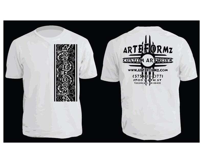 cd671edb Custom Screen Printed T-Shirts Single Color Front And Back | Etsy