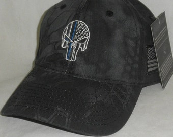 7daf8c2ecceff Blue Lives matter hat - Kryptek Punisher - Thin Blue Line Punisher Hat -  Thin blue line punisher shirt- Navy Seal Hat -Kryptek Punisher hat