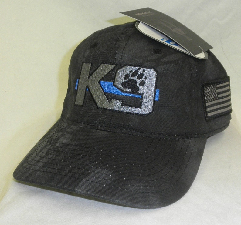 K9 hat K 9 hat Kryptek Hat Thin Blue Line hat  4702cd17864