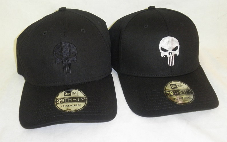 Punisher hat New Era 39 Thirty Fitted 2 colors to choose  2be378db06f