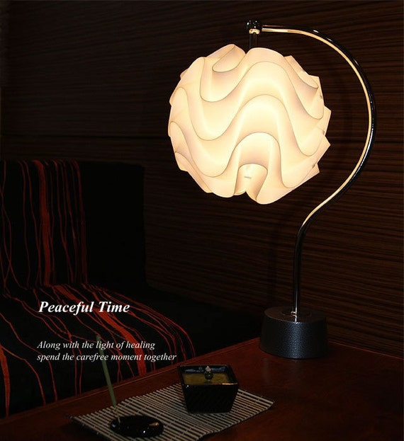 Modern Contemporary Table Lamp Jkc109 With White Plastic Shade In Art Decor Design For Living Room Bedroom Bedside Teen S Room