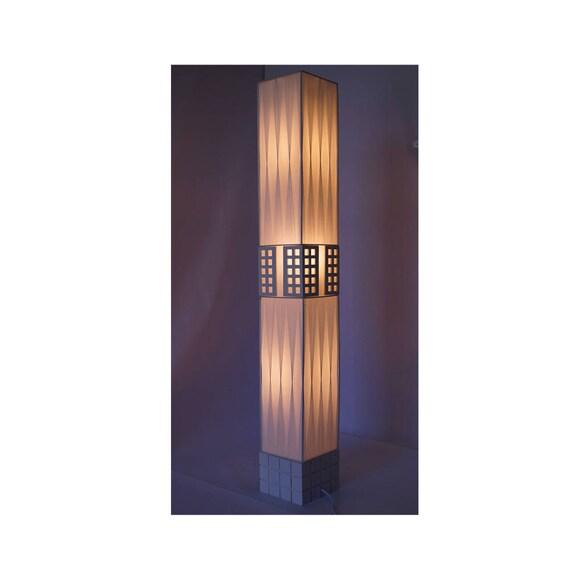 New White Modern Contemporary Floor Lamp Zk009l Decor Design Etsy