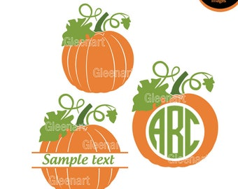 Pumpkin SVG, Pumpkin Monogram, Hallowen Svg Bundle, Hallowen svg, Cutting File, Halloween svg files, Pumkin monogram svg  Instant Download