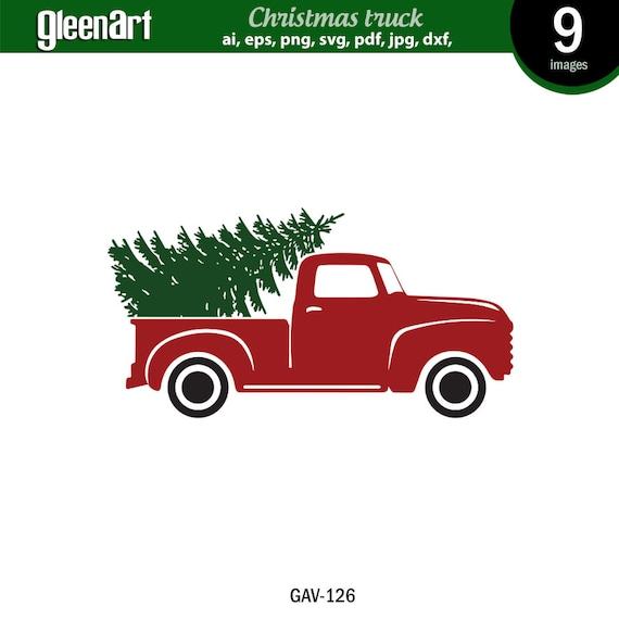 Christmas Truck Svg.Christmas Truck Svg Christmas Tree Svg Old Red Truck Svg Merry Christmas Svg Vintage Truck Svg Files Instant Download For Cricut