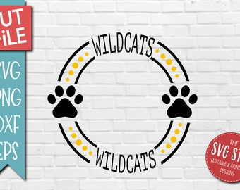 Wildcats Paw Svg Etsy Over 80 cat paw png images are found on vippng. wildcats paw svg etsy